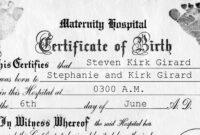 001 Birth Certificate Template Word Rare Ideas Fake throughout Birth Certificate Fake Template