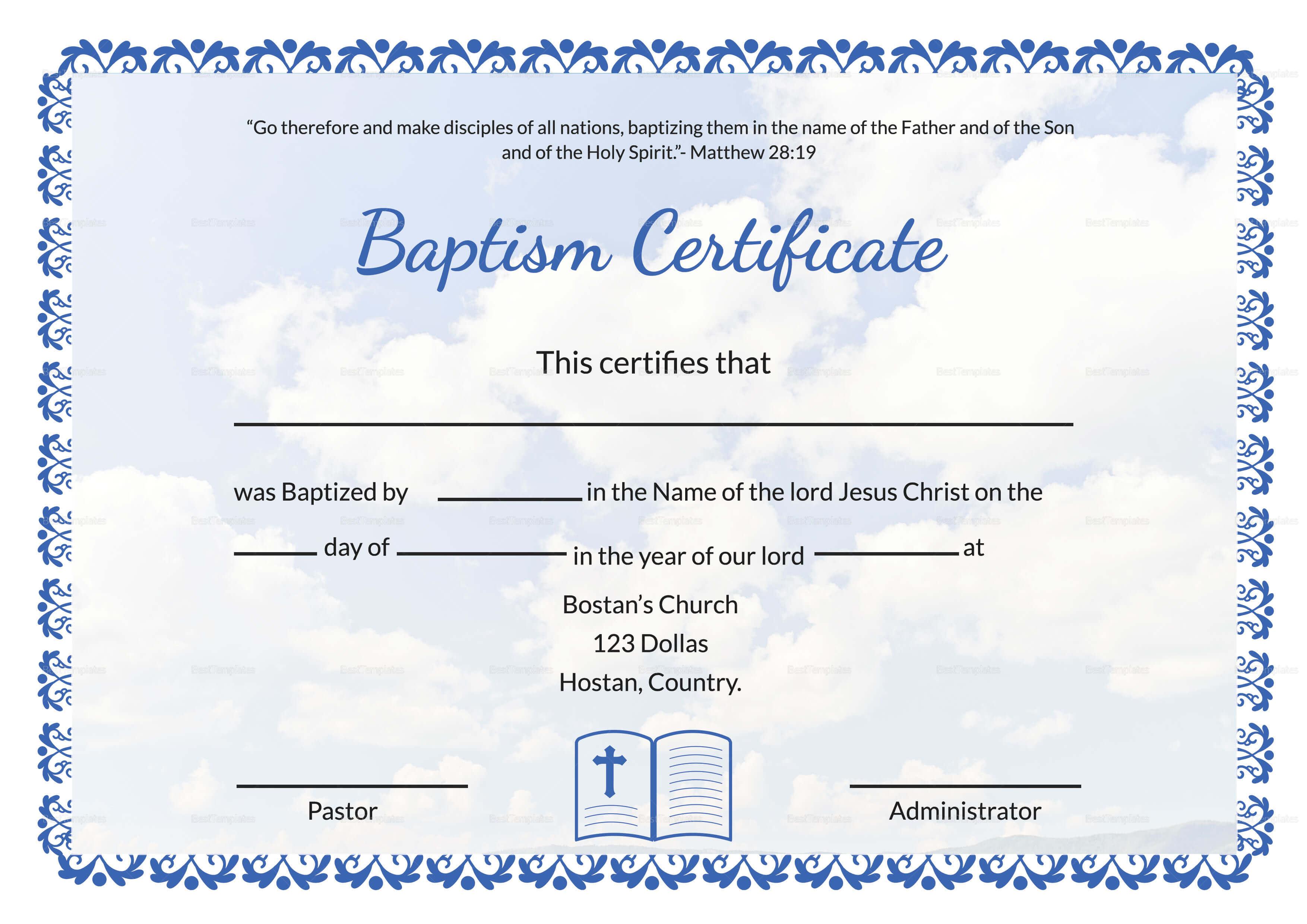 001 Certificate Of Baptism Template Unique Ideas Broadman inside Christian Baptism Certificate Template