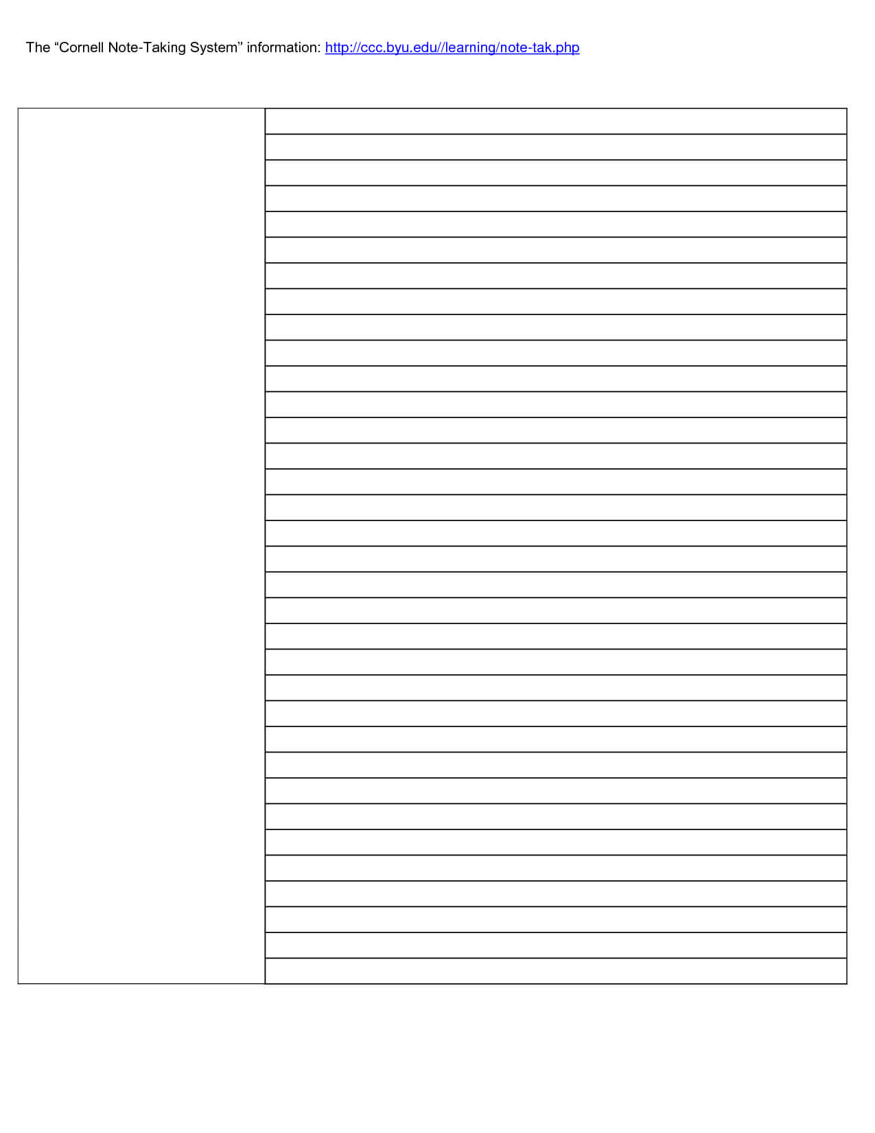 001 Cornell Note Taking Template Word Research Paper pertaining to Cornell Note Template Word