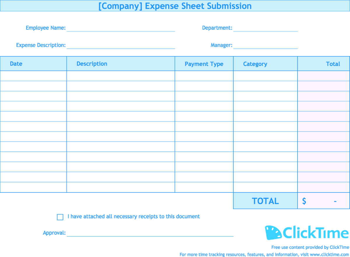 001 Free Expense Report Templates Screenshot Template Inside Expense Report Spreadsheet Template