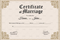 001 Keepsake Marriage Certificate28129 Template Ideas pertaining to Certificate Of Marriage Template