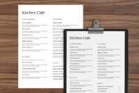 001 Menu Templates Free Download Word Template Dreaded Cafe in Free Cafe Menu Templates For Word