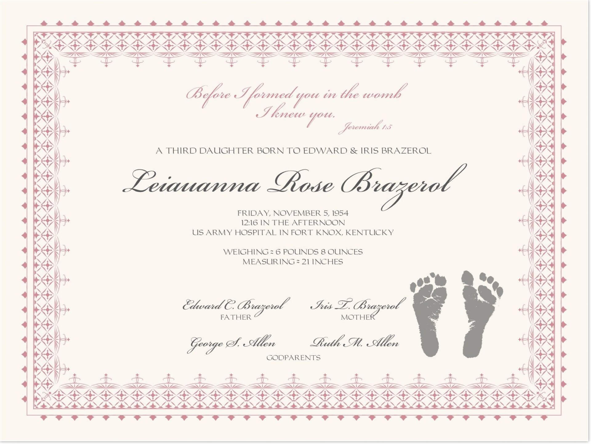 001 Template Ideas Baby Dedication Certificate Mock inside Mock Certificate Template