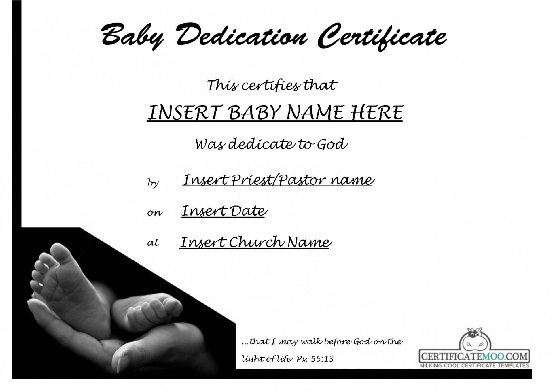 002 Baby Dedication Certificate Template Ideas Wonderful in Baby Christening Certificate Template