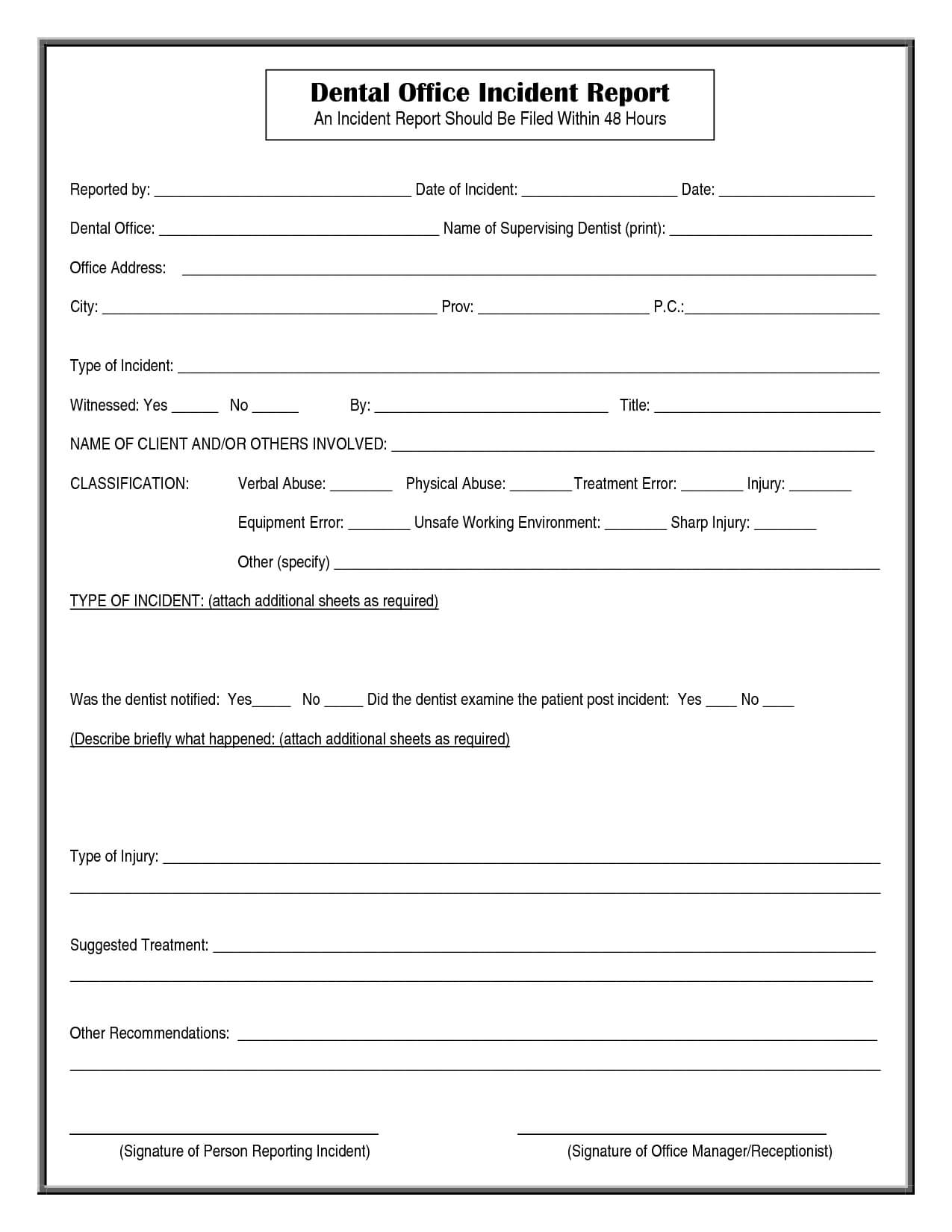 002 Office Incident Report Form Template 290953 Hospital regarding Incident Report Form Template Qld