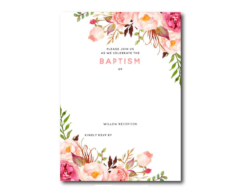 002 Template Ideas Free Baptism Invitation Breathtaking intended for Blank Christening Invitation Templates