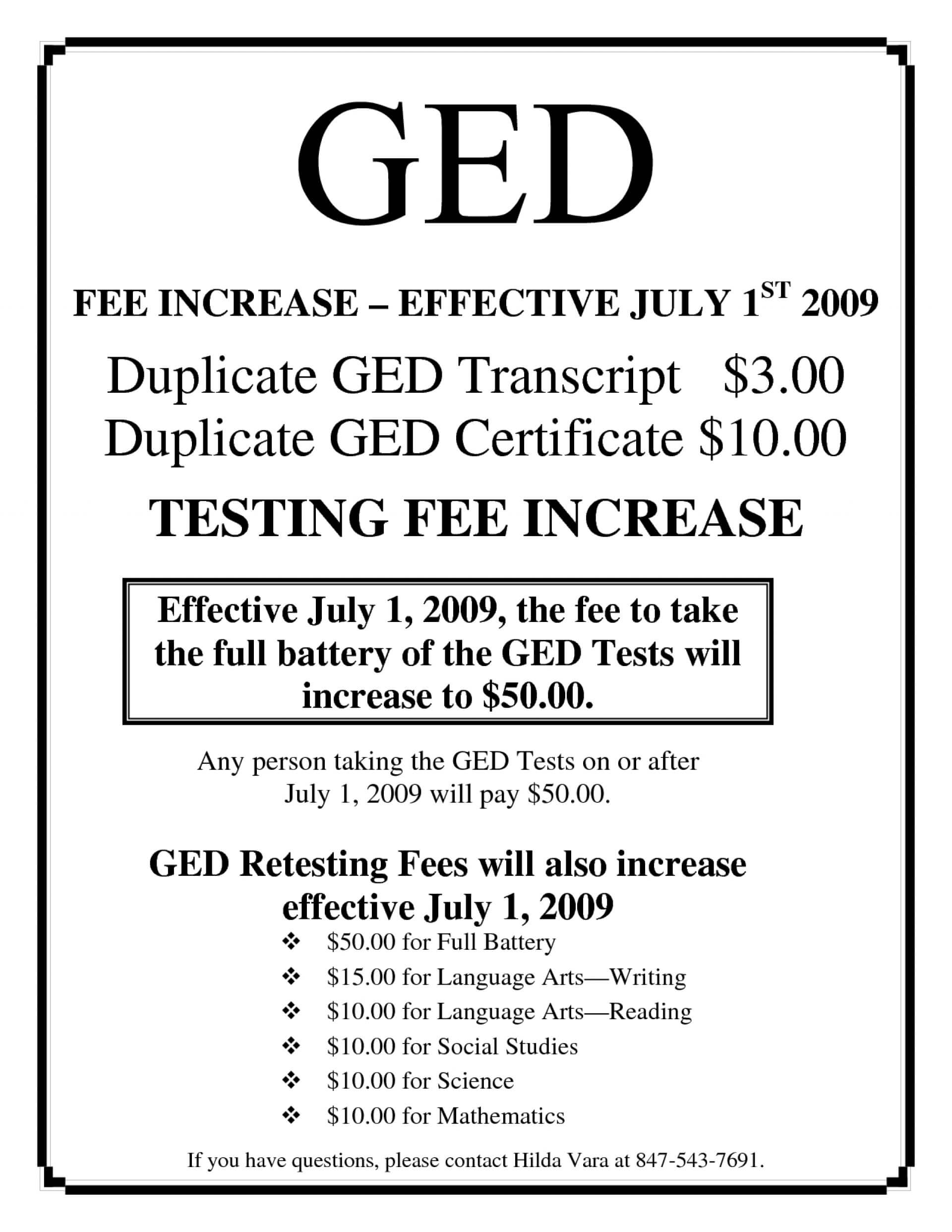 003 Best Ged Certificate Template Download Example inside Ged Certificate Template