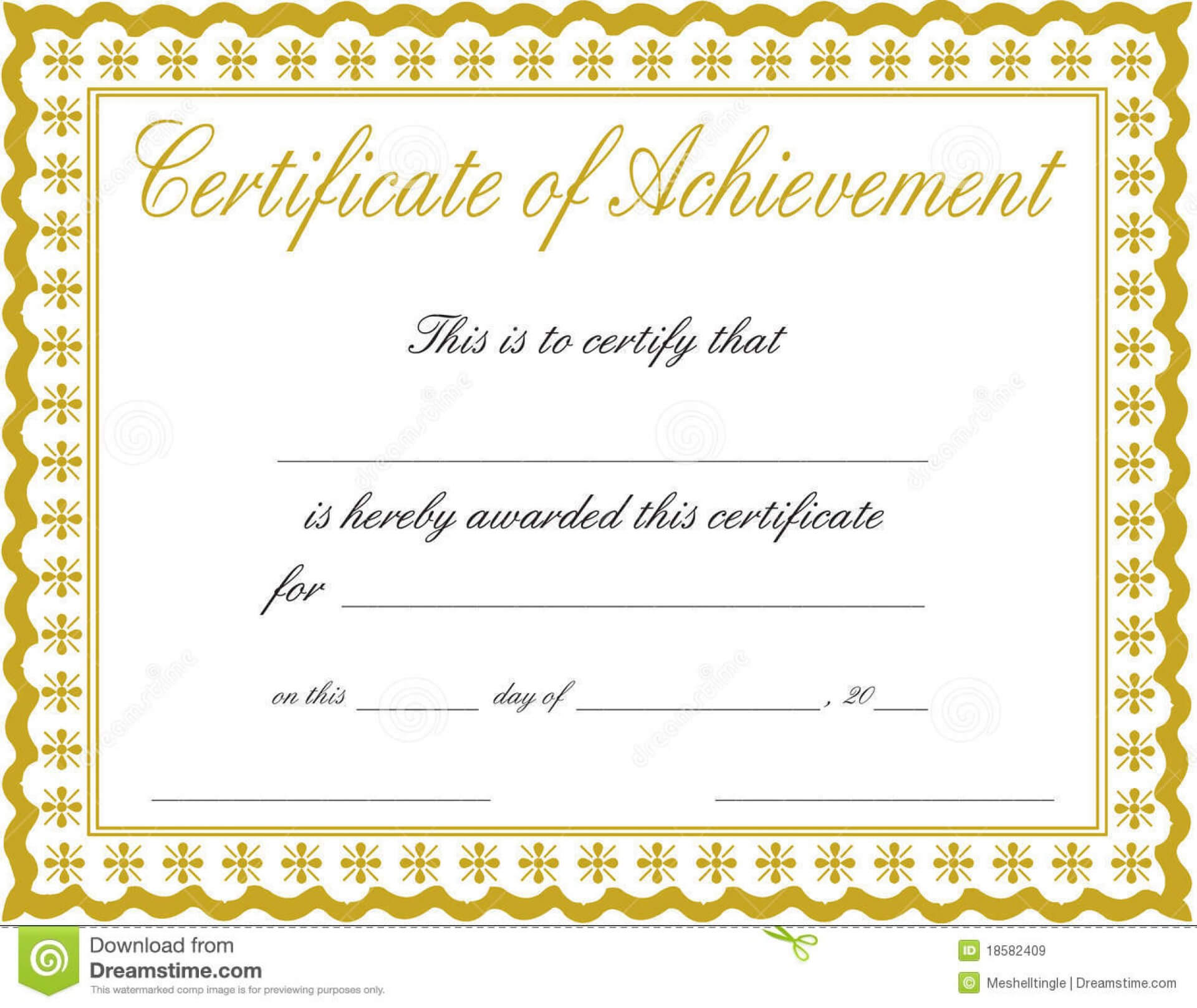 003 Certificate Of Achievement Template Free Ideas Throughout Blank Certificate Of Achievement Template