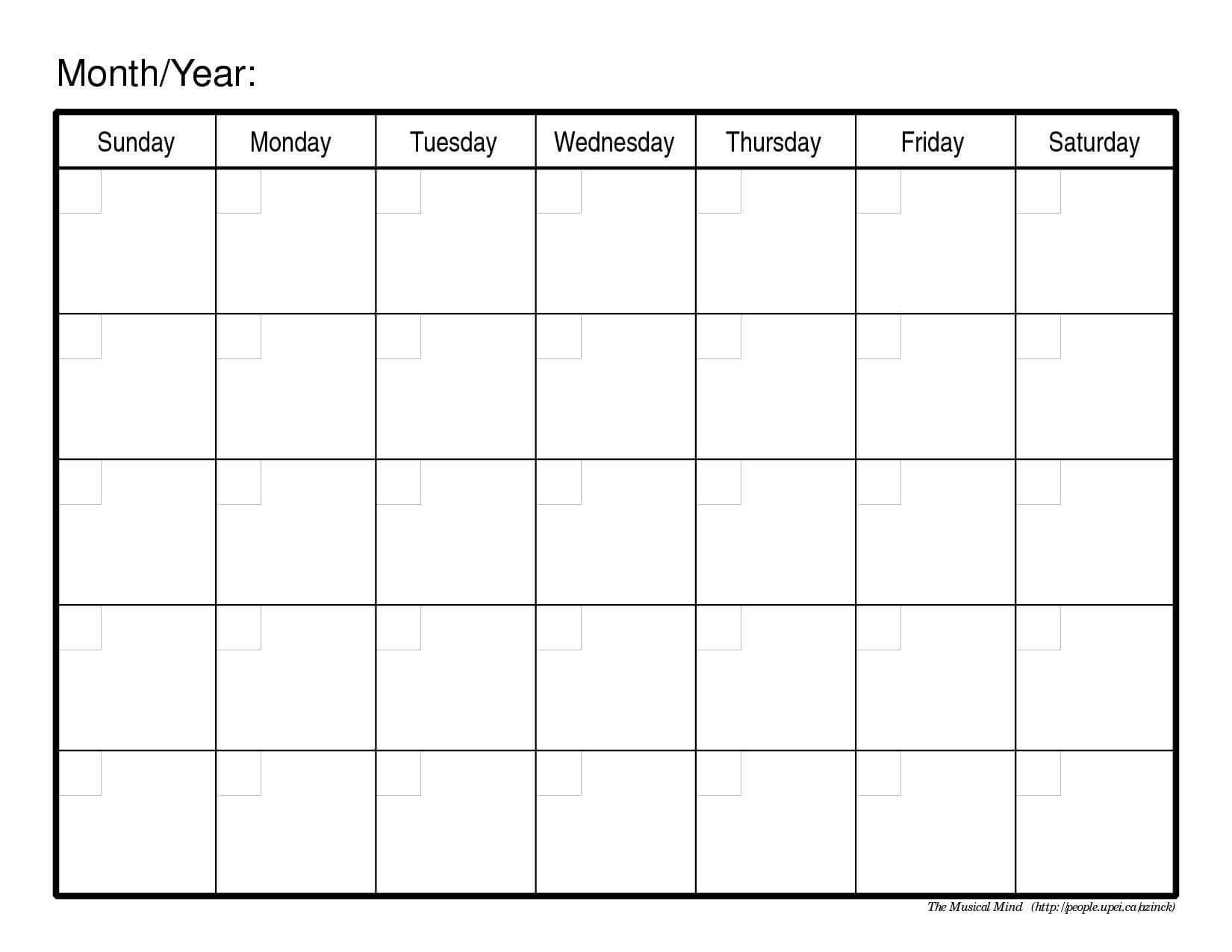 003 Free Printable Calendar Templates Template Unforgettable regarding Blank Calender Template