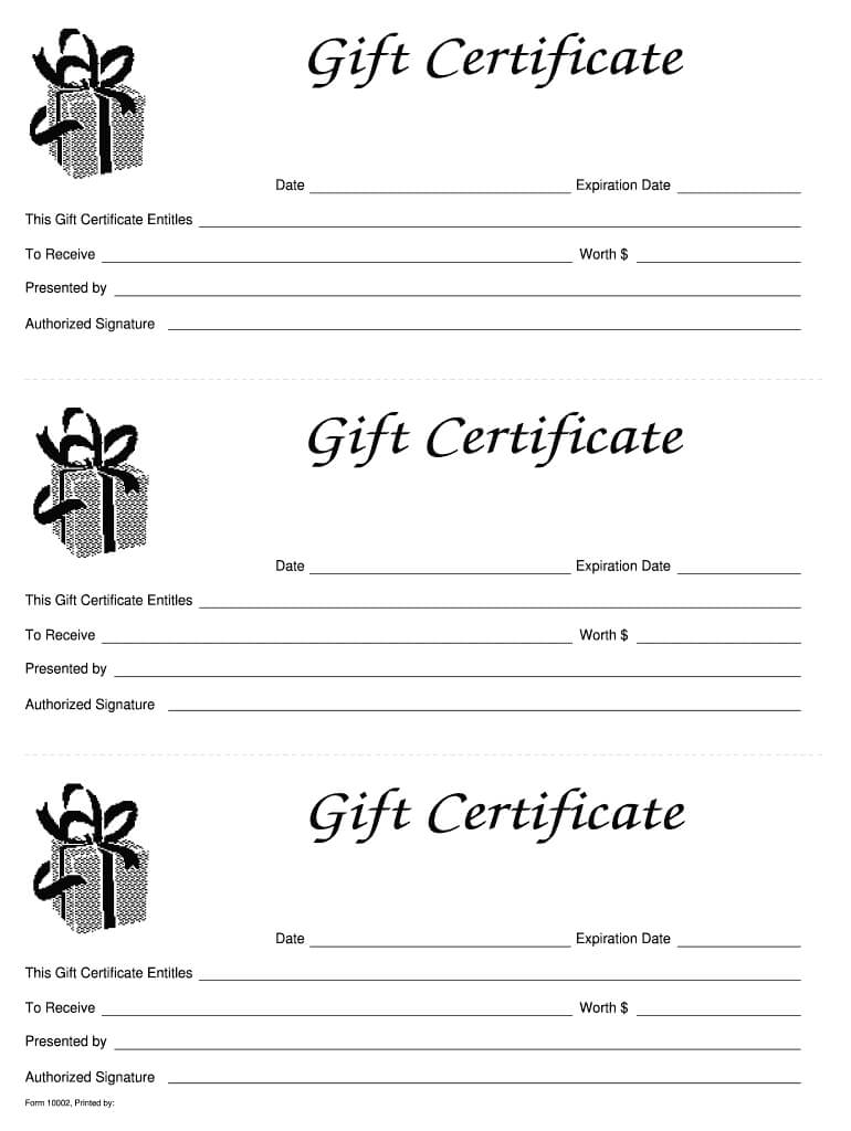 003 Large Free Printable Gift Certificates Template Awful inside Massage Gift Certificate Template Free Printable