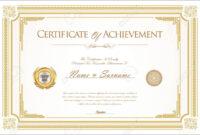 003 Template Ideas Certificate Of Achievement Or Remarkable regarding Certificate Of Achievement Army Template