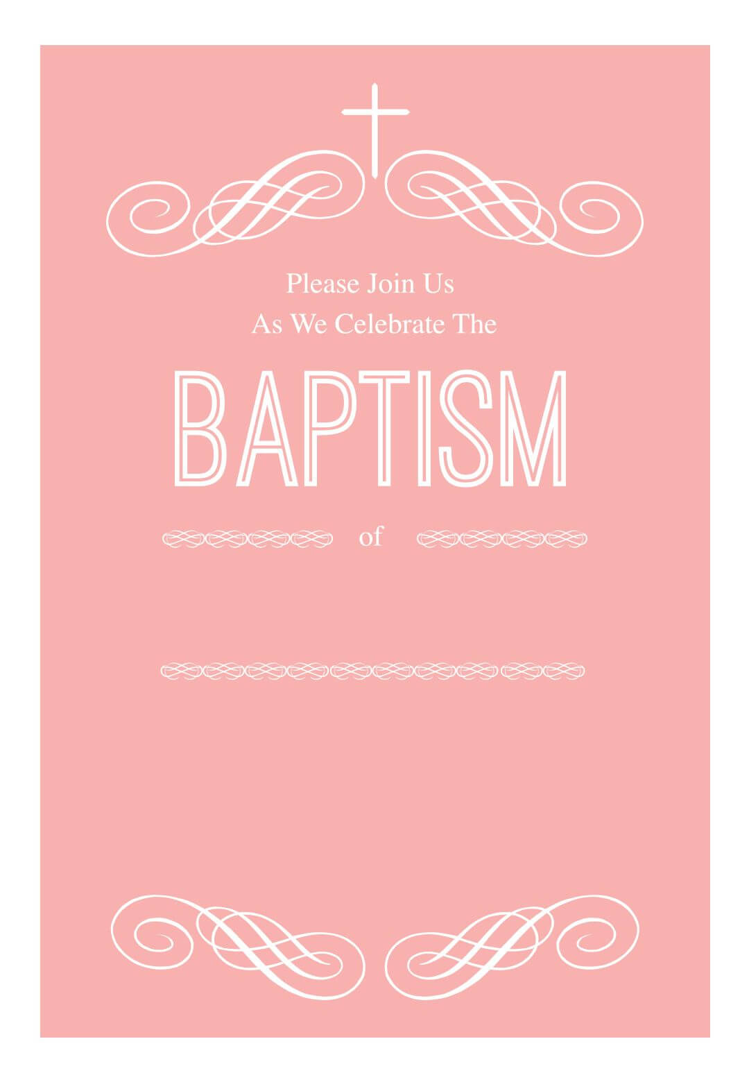 003 Template Ideas Free Baptism Invitation Templates for Blank Christening Invitation Templates