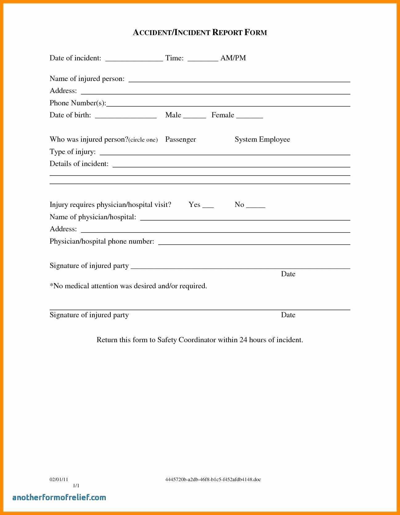 003 Template Ideas Incident Reportm Accidentms Hazard for Hazard Incident Report Form Template