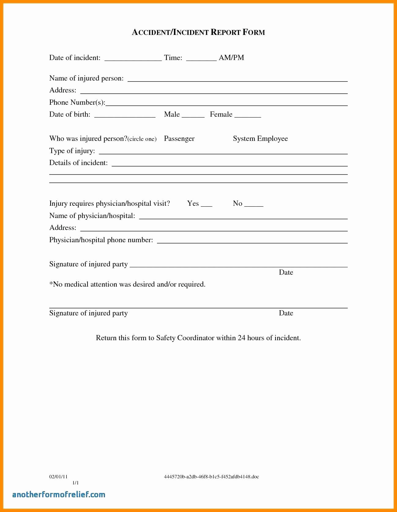 003 Template Ideas Incident Reportm Accidentms Hazard intended for Incident Hazard Report Form Template