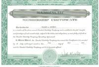003 Template Ideas Llc Member Certificate Marvelous In Llc Membership Certificate Template Word