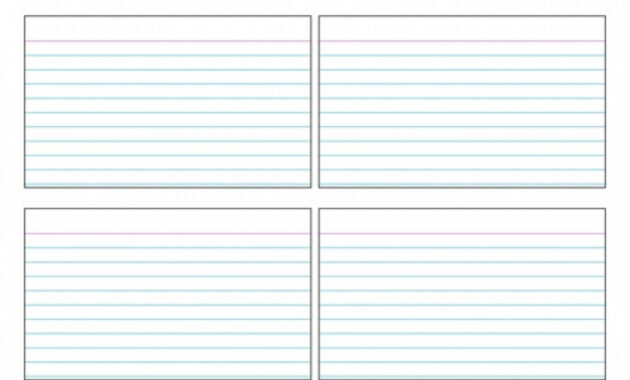 004 Best 5X8 Index Card Template Free In Word For Surprising with 3 X 5 Index Card Template