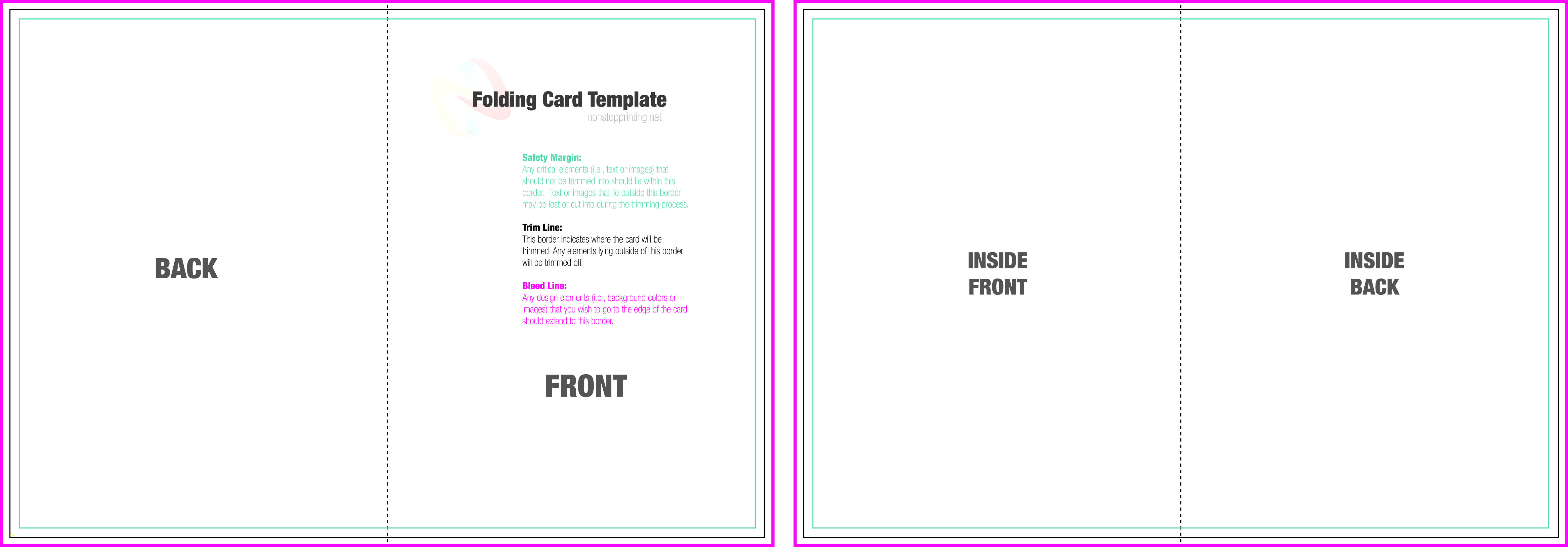 004 Blank Quarter Fold Card Template Free Ideas Greeting intended for Quarter Fold Birthday Card Template