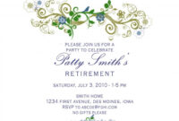 004 Editable Free Retirement Party Invitation Templates For Throughout Free Dinner Invitation Templates For Word