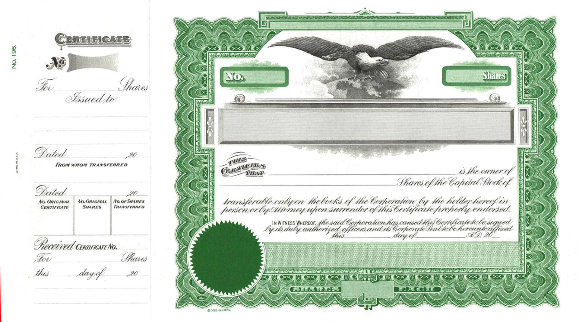 004 Free Stock Certificate Online Generator With Pertaining To Free Stock Certificate Template Download