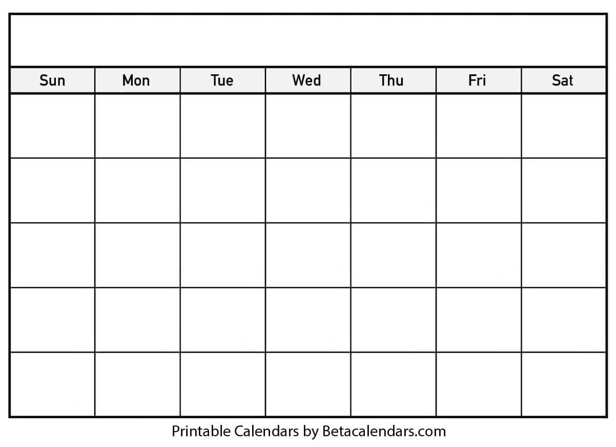 004 Printable Blank Calendar Template Striking Ideas Free With Regard To Blank Calander Template