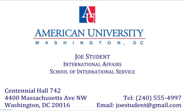 004 Student Business Card Template University Of Arizona intended for Student Business Card Template