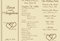 004 Template Ideas Free Printable Wedding Program Templates throughout Free Printable Wedding Program Templates Word