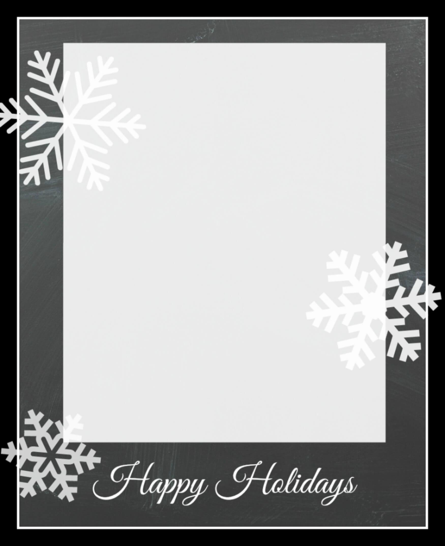 004 Template Ideas Snowflakecard3 Christmas Photo Card Best regarding Happy Holidays Card Template