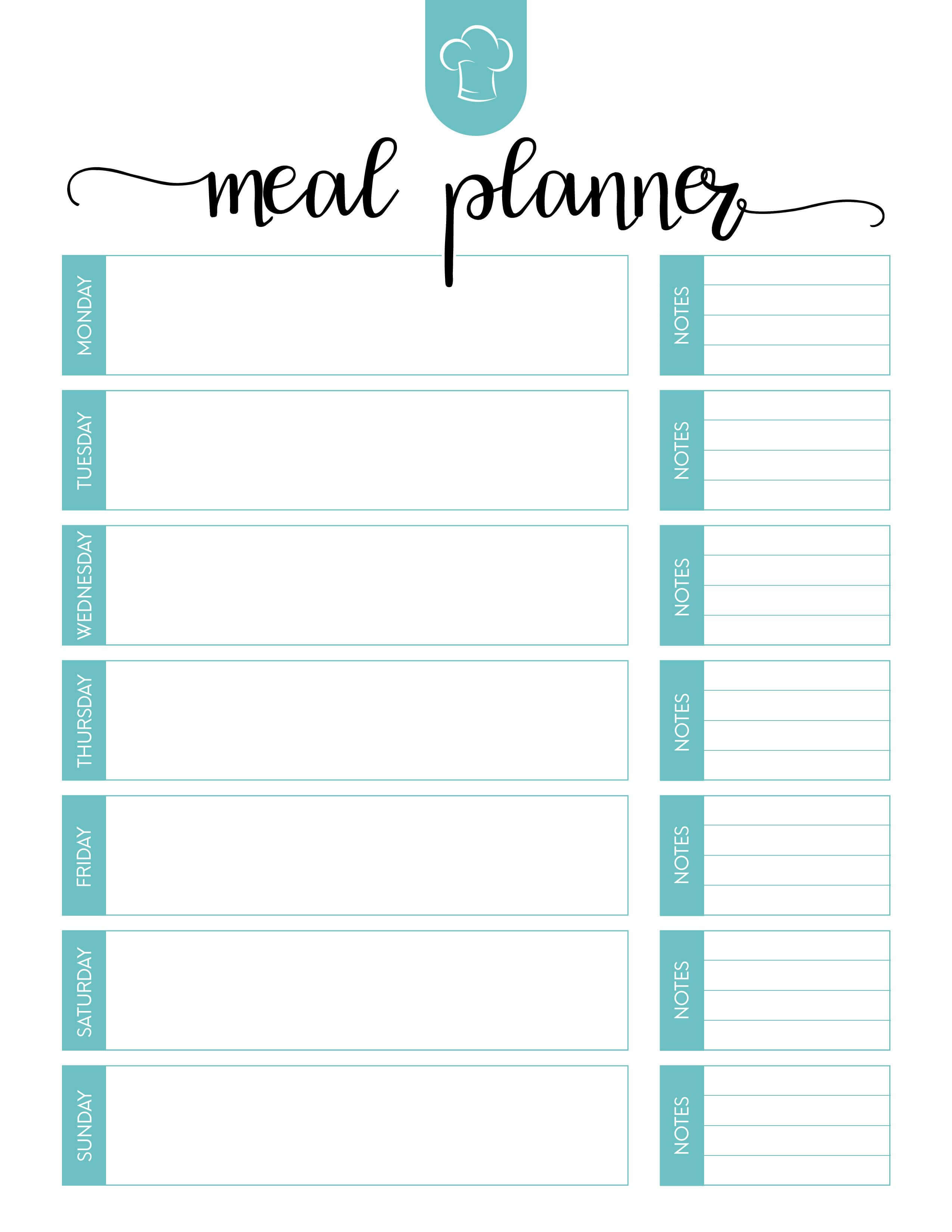 005 Free Menu Plan Template Unique Ideas Meal Pdf Planning inside Menu Planning Template Word