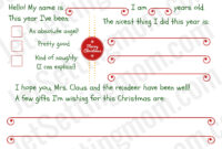 005 Letters From Santa Template Ideas Letter To Archaicawful throughout Blank Letter From Santa Template
