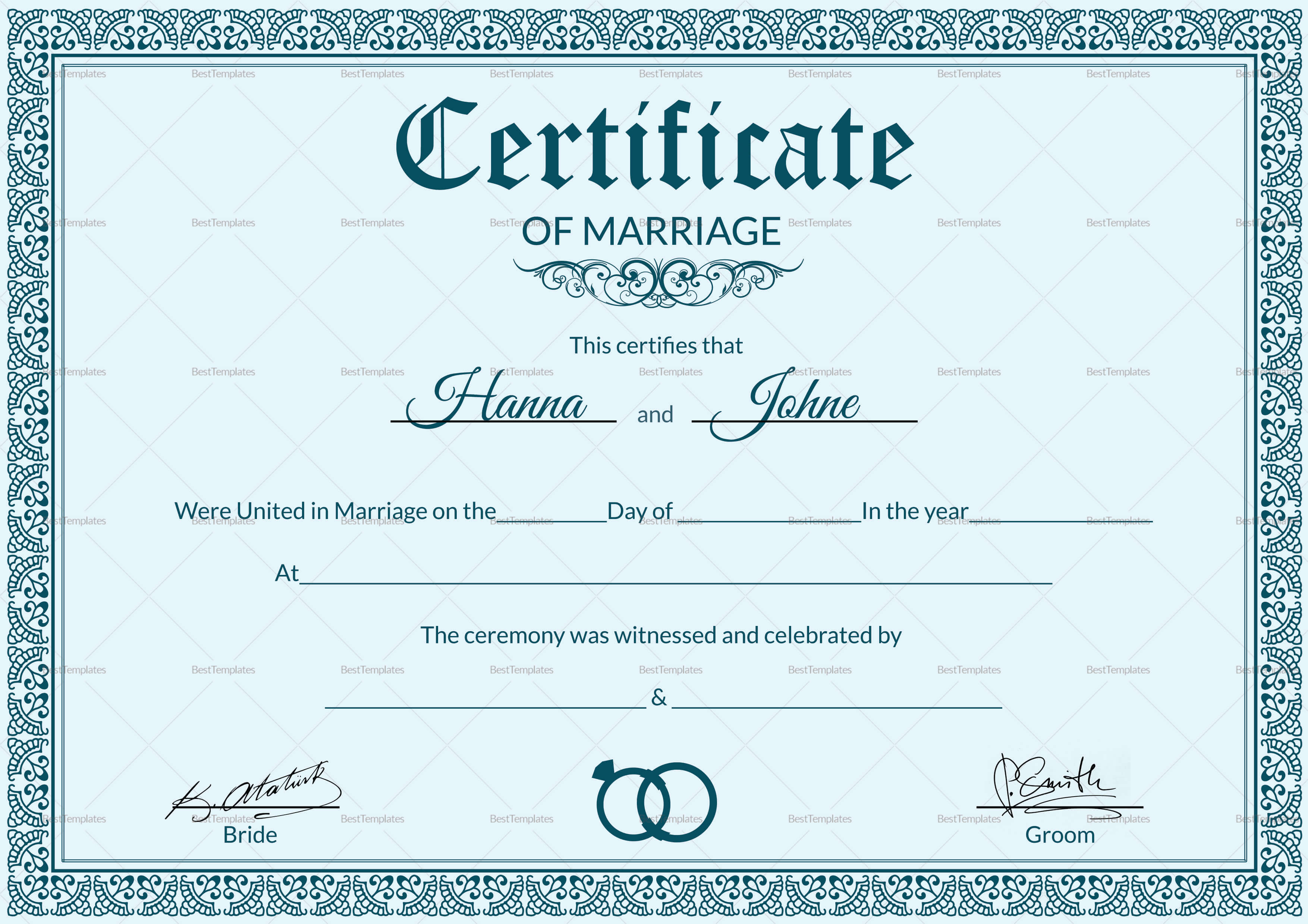 005 Marriage Certificate Template28129 Of Template Beautiful inside Certificate Of Marriage Template