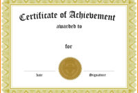 005 Template Ideas Free Family Reunion Certificates With regarding Word Certificate Of Achievement Template