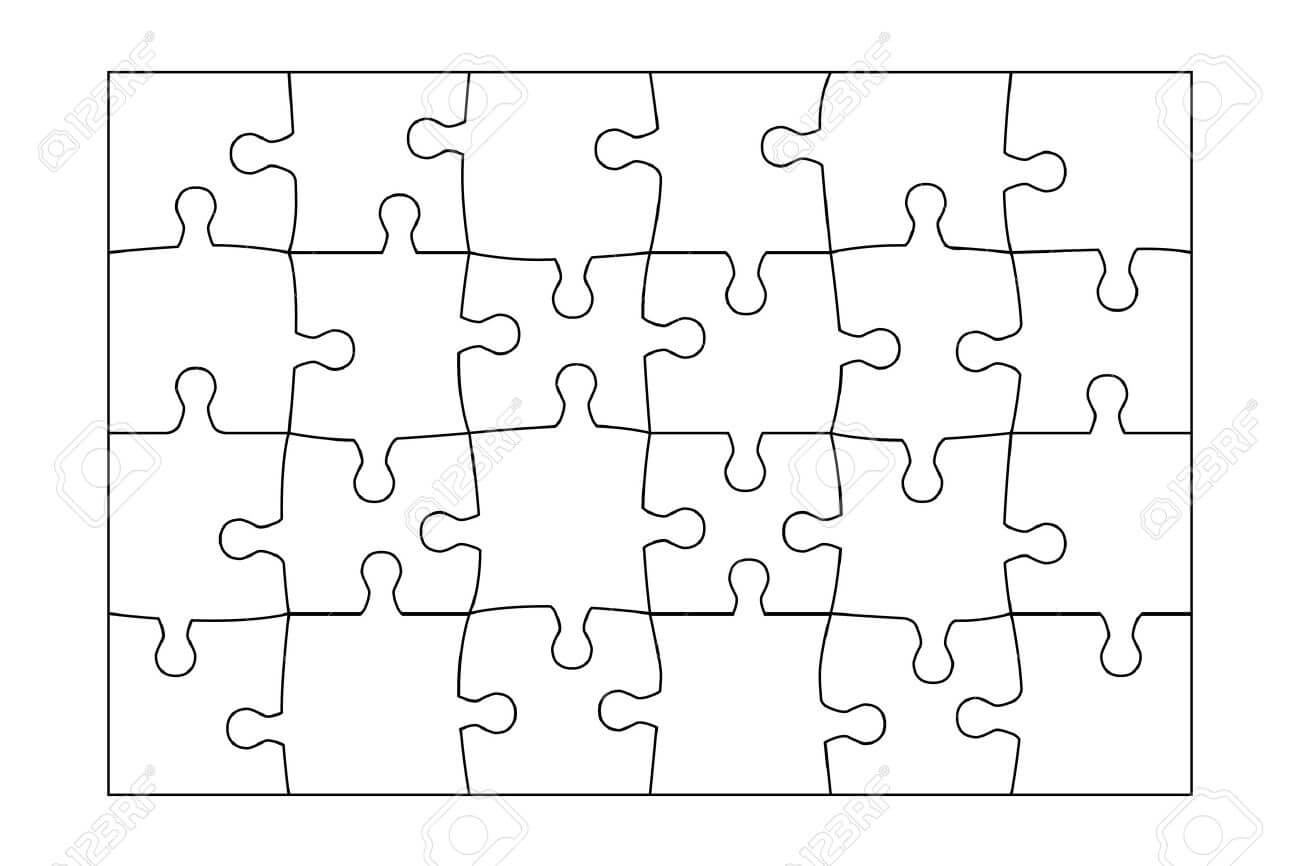006 Jig Saw Puzzle Template Ideas Jigsaw Pieces Astounding pertaining to Jigsaw Puzzle Template For Word