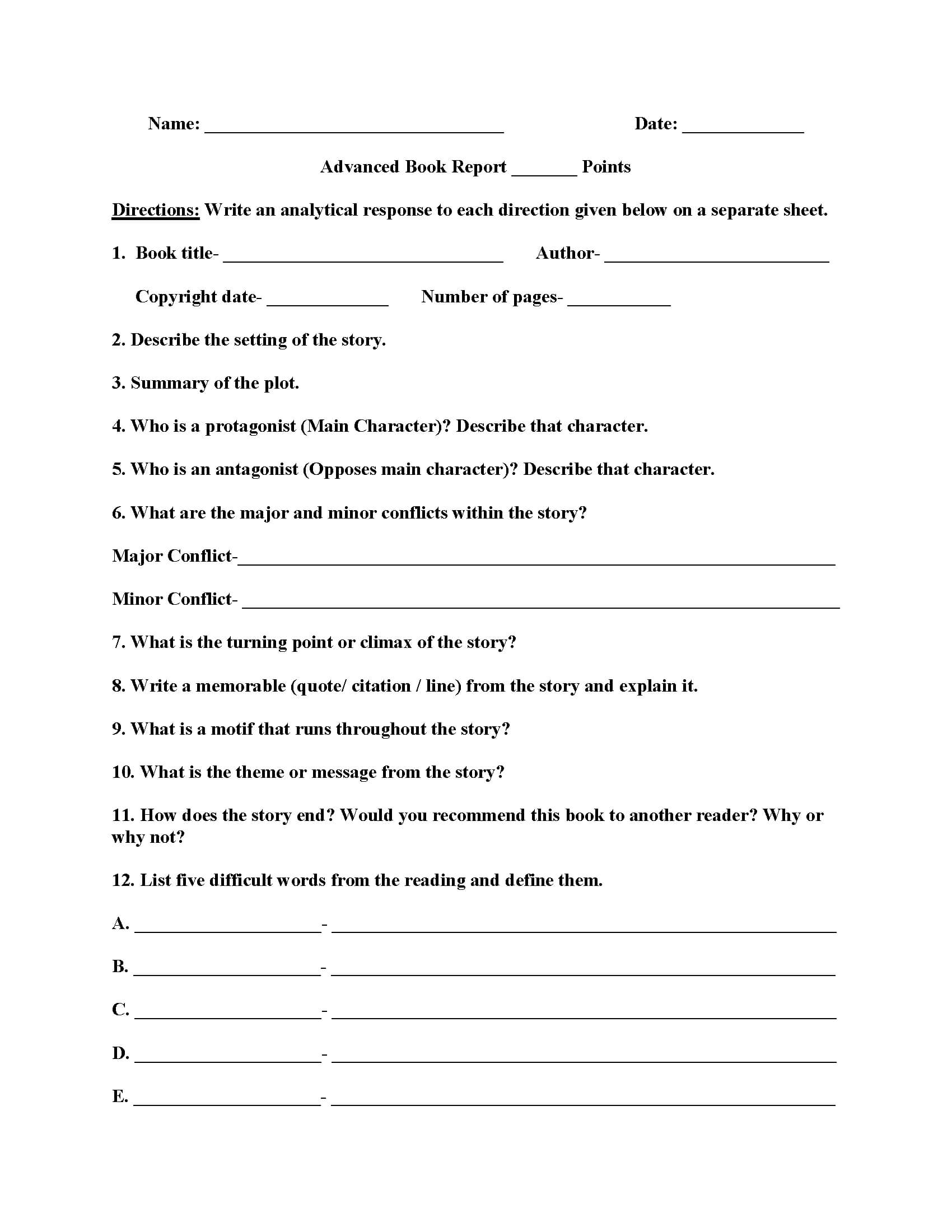 007 Biography Book Report Template Formidable Ideas Pdf Free Inside 2Nd Grade Book Report Template