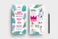 007 Free Summer Fashion Flyer Template Rack Card Stunning for Free Rack Card Template Word