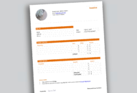 007 Professional Invoice Template Header Templates For Ms regarding Header Templates For Word