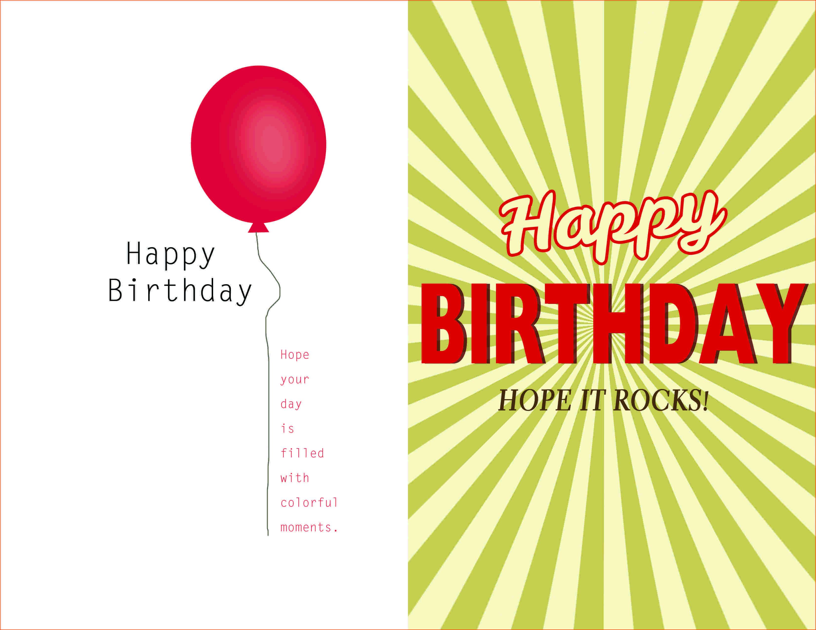 007 Template Ideas Creative Birthday Invitation Quarter Fold Inside Birthday Card Publisher Template
