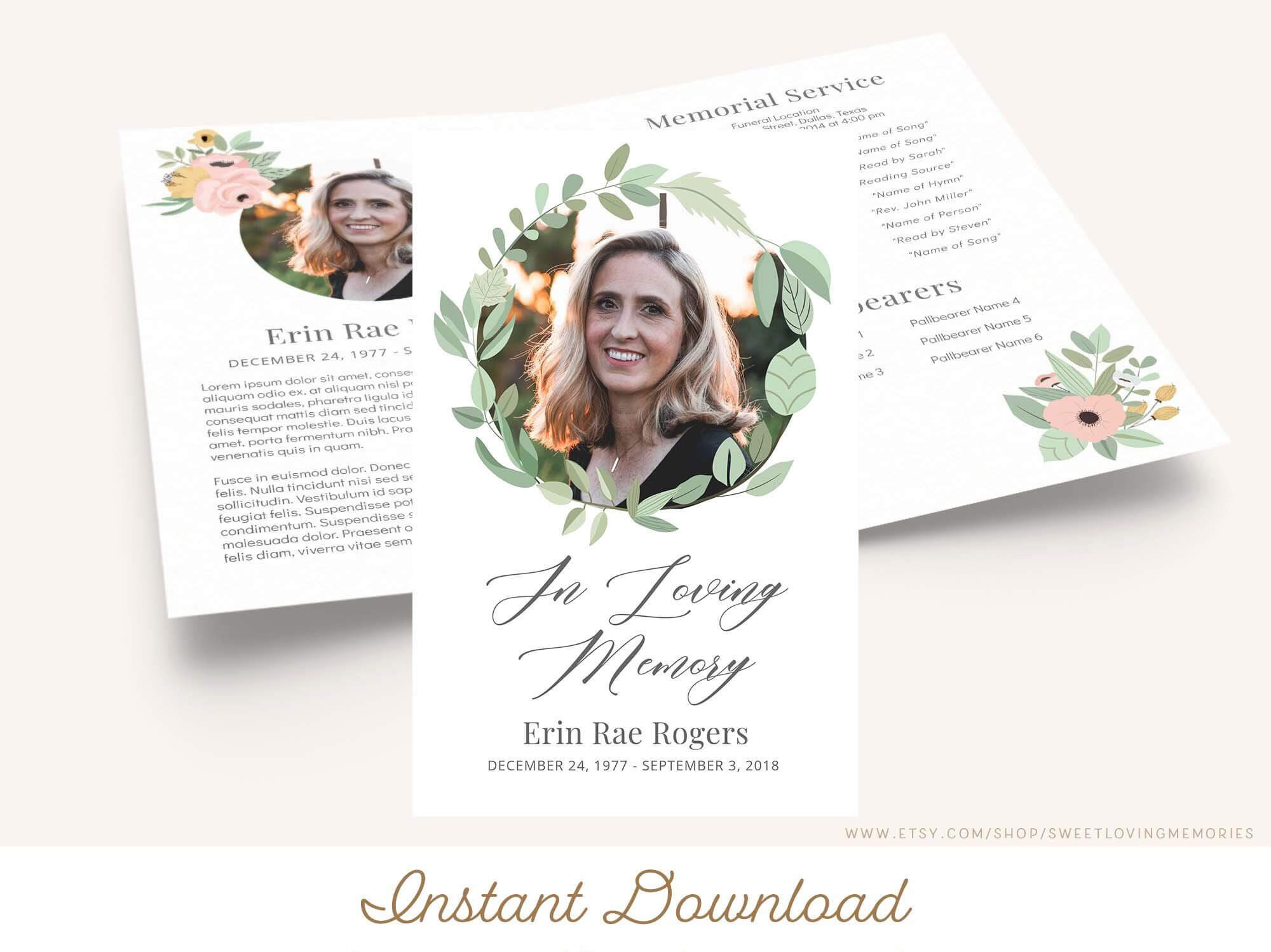 007 Template Ideas In Loving Memory Templates Fantastic Free With In Memory Cards Templates