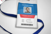 007 Template Ideas Multipurpose Company Id Card Free Psd in Free Id Card Template Word