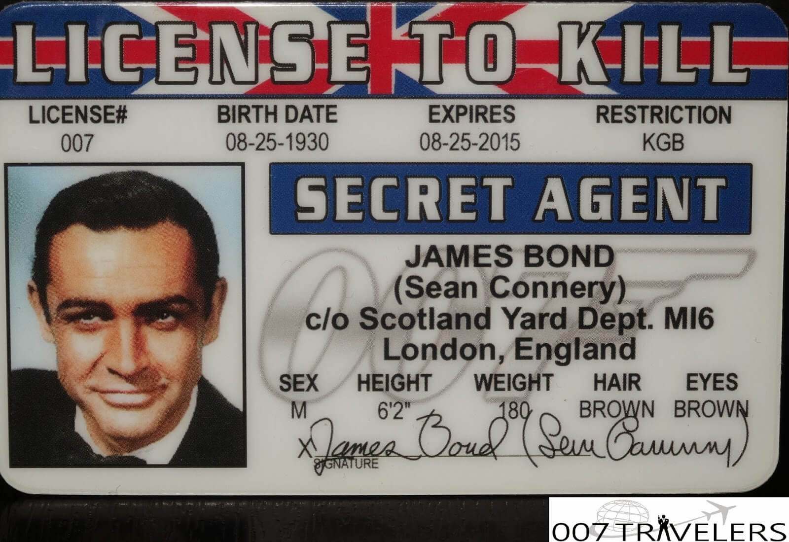 007 Travelers: 007 Item: License To Kill Id Card with Mi6 Id Card Template