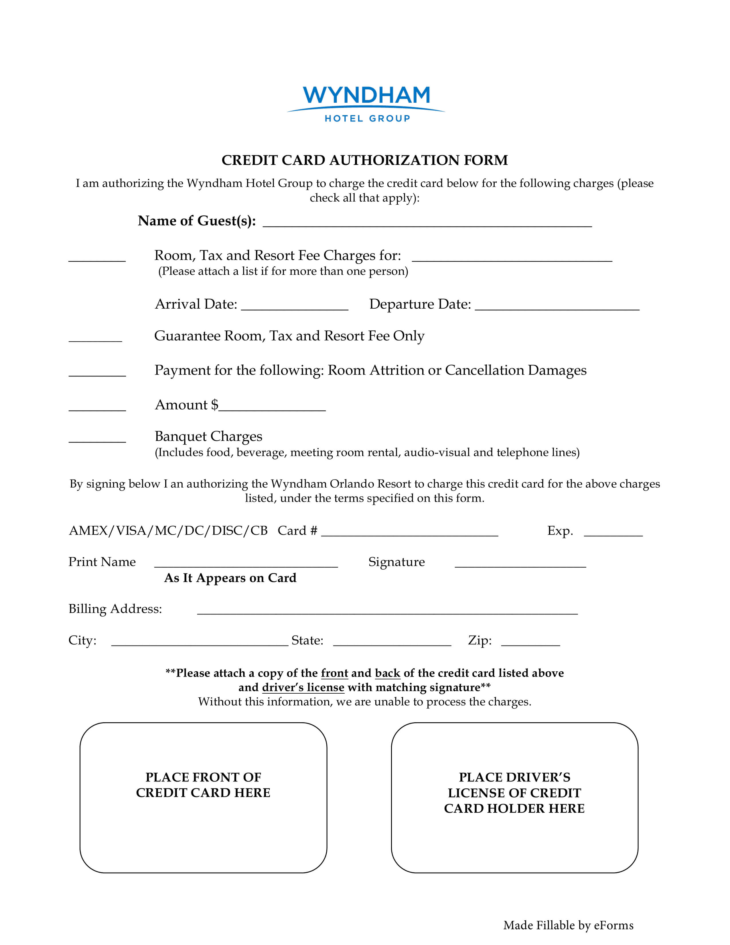 007 Wyndham Hotel Credit Card Authorization Form Template Intended For Credit Card Authorization Form Template Word