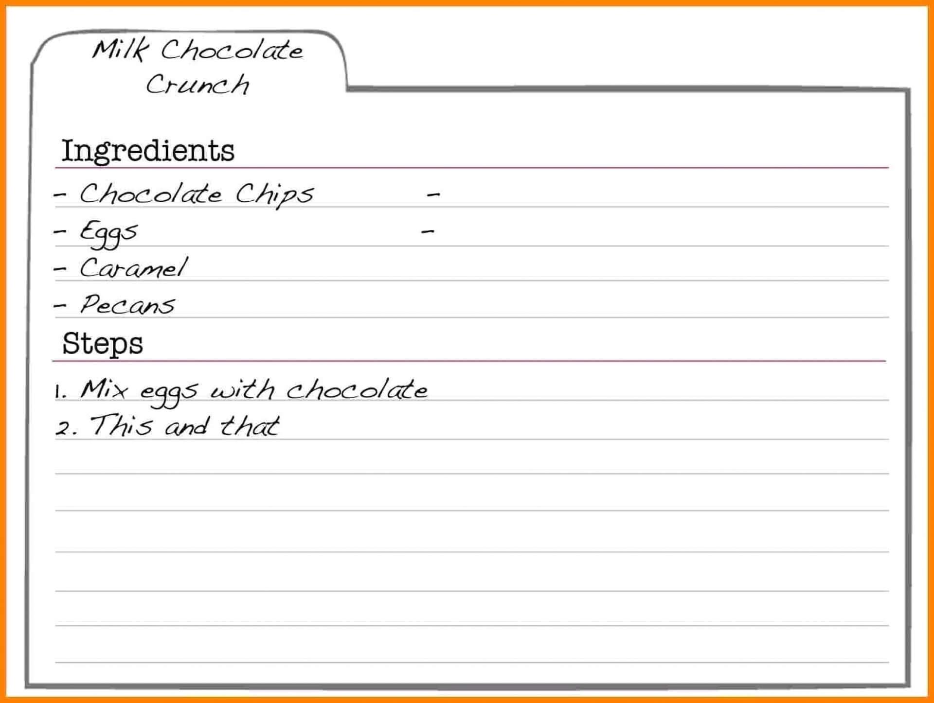 008 Free Recipe Card Templates Elegant Template Printable regarding Fillable Recipe Card Template