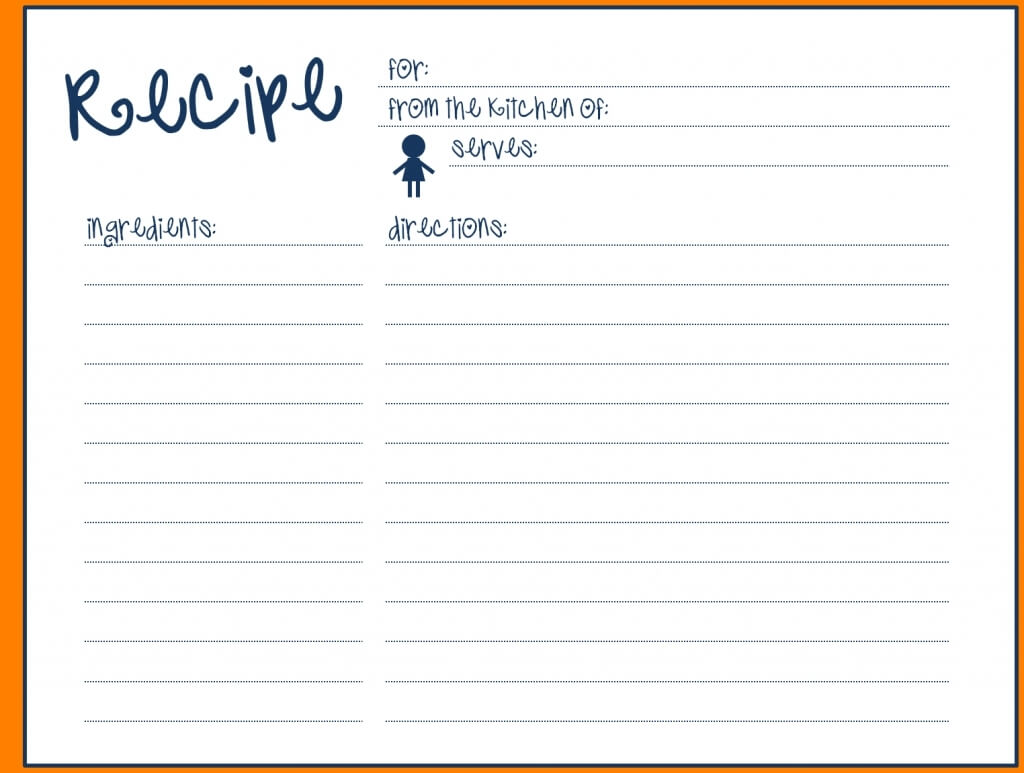 008 Template Ideas Free Recipe For Word Blank Card Simple with Fillable Recipe Card Template
