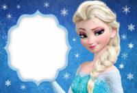 008 Template Ideas Frozen Birthday Invites Excellent pertaining to Frozen Birthday Card Template
