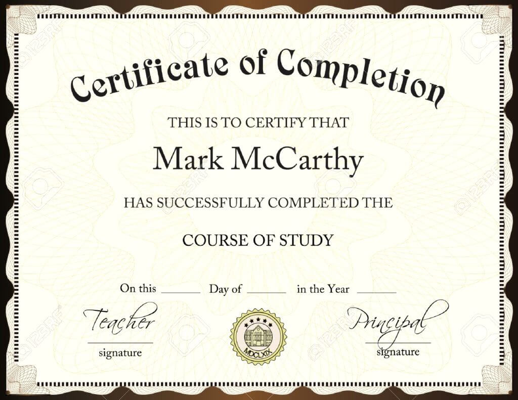 009 Template Ideas Certificate Of Completion Fascinating inside Certificate Of Completion Template Free Printable