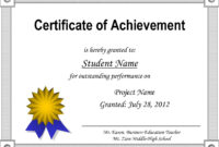 009 Template Ideas Outstanding Certificate Of Achievement regarding Certificate Of Accomplishment Template Free