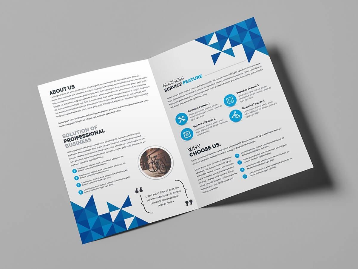 010 Bi Fold Brochure Template 03 Bifold Image Sensational with Fancy Brochure Templates