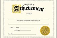 010 Certificate Of Achievement Template Ideas Remarkable inside Certificate Of Achievement Template Word