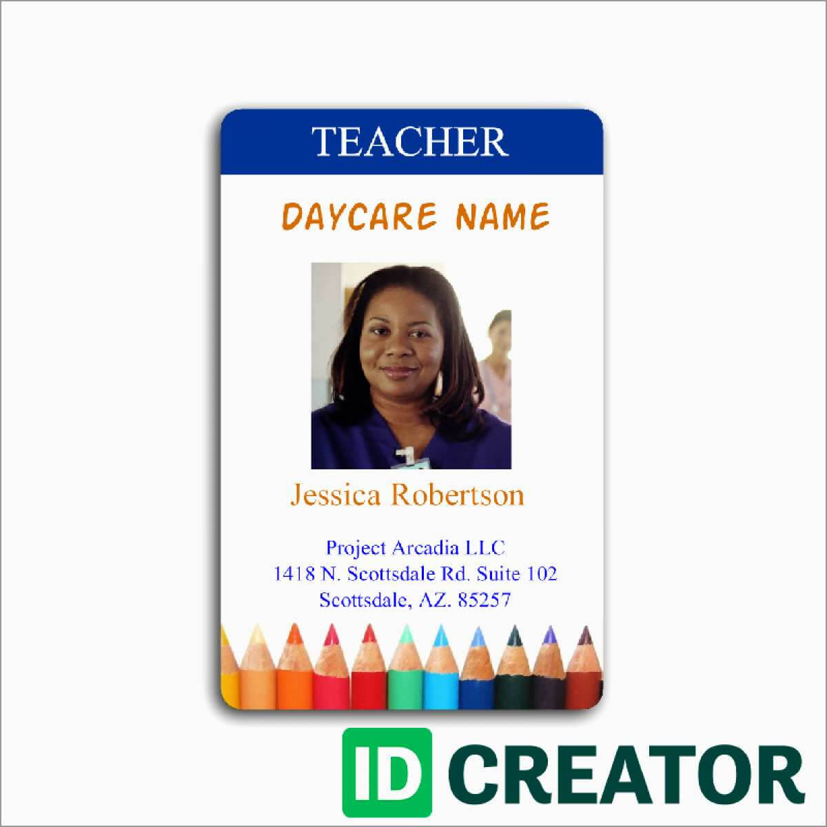 010 Id Badge Template Free Ideas Great Employee Templates within Teacher Id Card Template