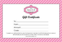 012 Free Printable Gift Certificates Template Ideas within Present Certificate Templates