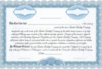 012 Llc Klasickc3A1 Template Ideas Member Staggering Inside Llc Membership Certificate Template Word